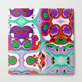 Abstract #10: Cell Dance Metal Print