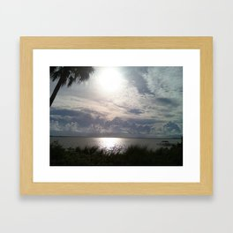 Brilliant  Florida Morning Sunrise Framed Art Print