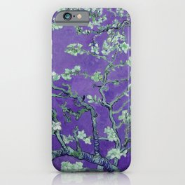 "Vincent van Gogh ""Almond Blossoms"" (edited purple) iPhone Case"