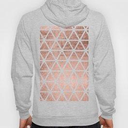 Geometric faux rose gold foil triangles pattern Hoody