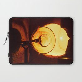 Glass blowing with a hot Glory Hole Laptop Sleeve
