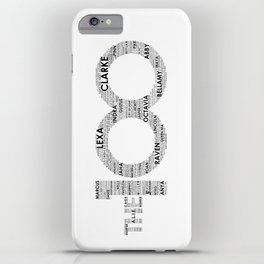 The 100 - Typography Art [black text] iPhone Case