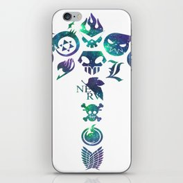 different anime -bleach-fma-snk-soul eater-one pice-db-naruto-tgl iPhone Skin