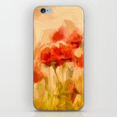 Fiery poppies in a golden cornfield iPhone & iPod Skin