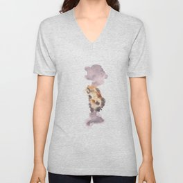Soft Texture Watercolor | [Grief] Hanging On Unisex V-Neck