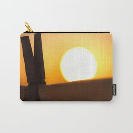 Clothes peg at sunrise Carry-All Pouch