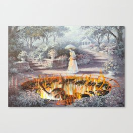 On the Way to Church Canvas Print