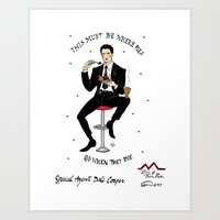 dale cooper Art Prints featuring Special Agent Dale Cooper ~ RR Diner by Emma Munger
