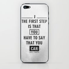 Will Smith quote - Motivational poster iPhone & iPod Skin