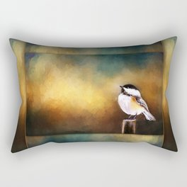 Chickadee in Morning Prayer Rectangular Pillow