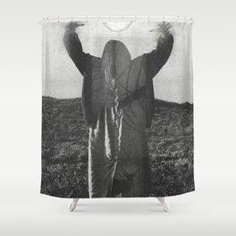 The Orb-Deer Overlay Shower Curtain