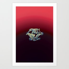 Faux Real - Red - This is Not Typography Art Print