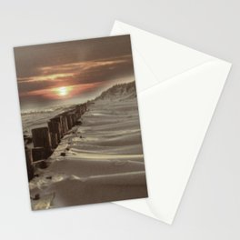 Fort Tilden Beach NYC sunset Stationery Cards