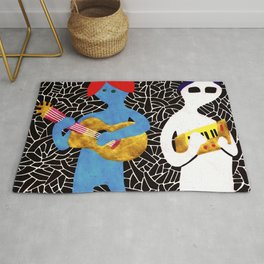Pony rockers playing music Rug