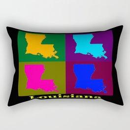 Colorful State Of Louisiana Pop Art Map Rectangular Pillow