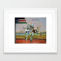 wrestling Framed Art Prints featuring Wrestling by CHOL  AKUOK