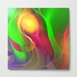 Artistic colourful flame abstract Metal Print