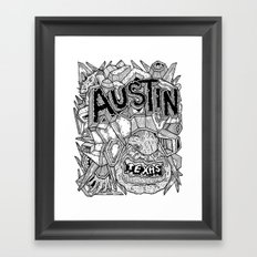 Geometric Mutations: Austin, TX Framed Art Print