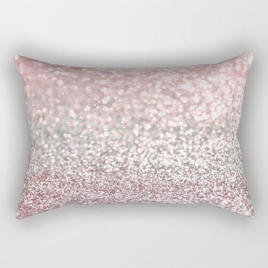 Girly Pink Snowfall Rectangular Pillow
