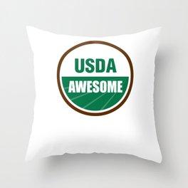 USDA AWESOME Throw Pillow