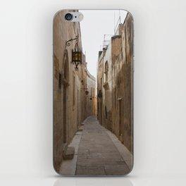 Narrow Streets in Mdina iPhone Skin
