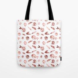 Rosette Rose Gold Tote Bag
