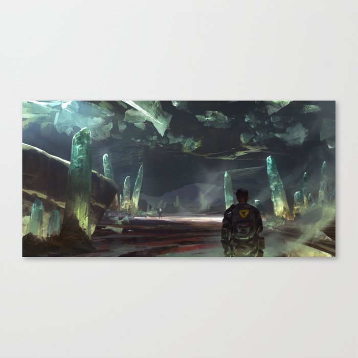 Cave of Lights Canvas Print