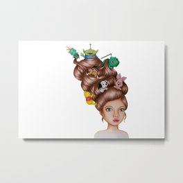 Childhood Cartoon Girl Drawing (Disn ey) Metal Print