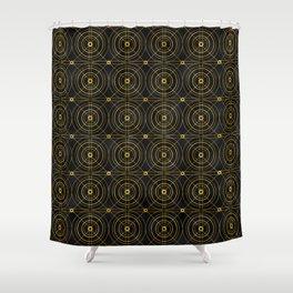 Art Deco Geometric Bull's Eye Elegance Pattern Shower Curtain