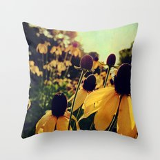 Sunshine and Flowers Throw Pillow