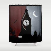peter pan Shower Curtains featuring Peter Pan by Rowan Stocks-Moore