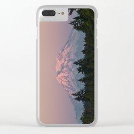 Mt. Rainier at Sunset Clear iPhone Case
