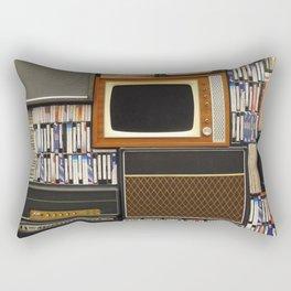 techno vintage Rectangular Pillow