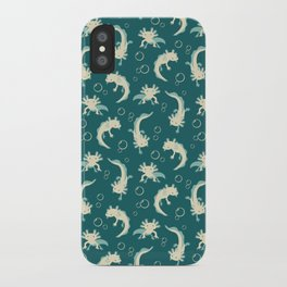Relaxolotl - Teal iPhone Case