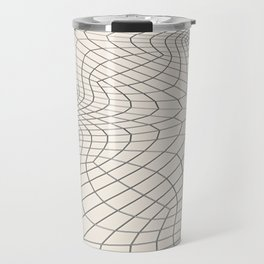 Metal wires on white surface Travel Mug