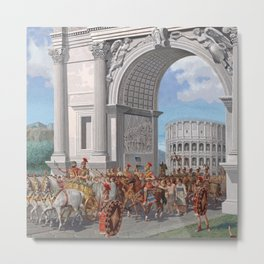 Classical Masterpiece: Roman Legion in Triumphal Procession by Herbert Herget Metal Print