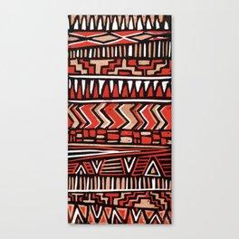 Aztec lino print Canvas Print