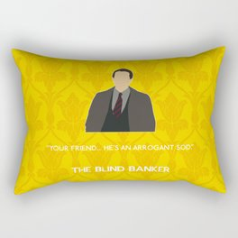 The Blind Banker - DI Dimmock Rectangular Pillow