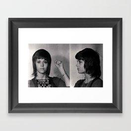 Jane Fonda Mugshot Framed Art Print