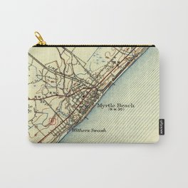 Vintage Map of Myrtle Beach South Carolina (1940) Carry-All Pouch