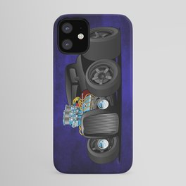 Hot Custom Black Street Rod Coupe iPhone Case