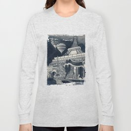 French Collage v1 Negative Long Sleeve T-shirt