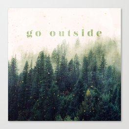 go outside Canvas Print