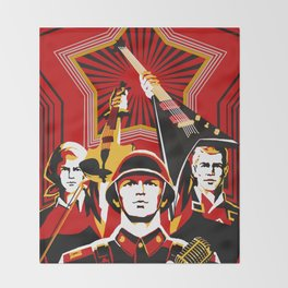 Art print: Propaganda Musik Throw Blanket