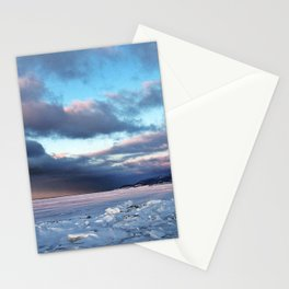 Storm Cloud Across Frozen Bay Stationery Cards