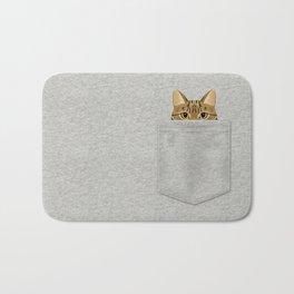 Pocket Tabby Cat Bath Mat