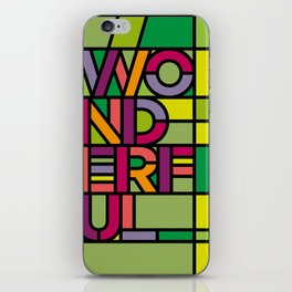 Wonderful - Stained Glass iPhone Skin
