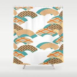 Geometry wind pattern Shower Curtain
