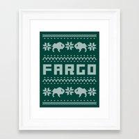 fargo Framed Art Prints featuring Fargo Sweater by Mandrie