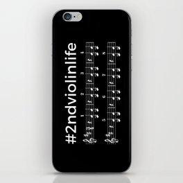 #2ndviolinlife (dark colors) iPhone Skin